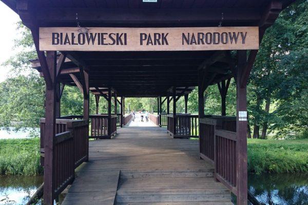 Wejście do Parku Pałacowego w Białowieży. Też zrobię wpis, bo warto