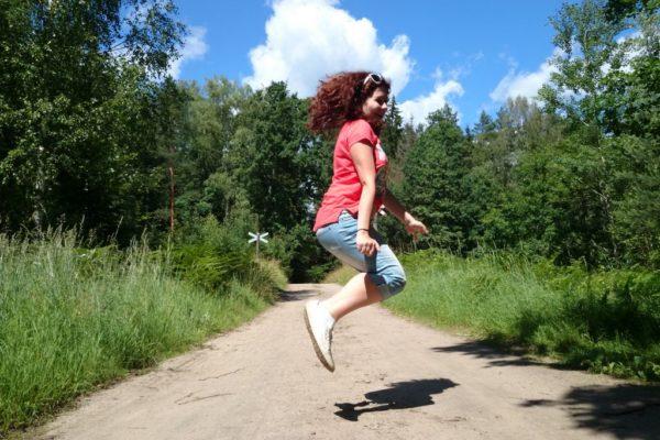 Znowu skaczę, uwielbiam, dobrze mi :)
