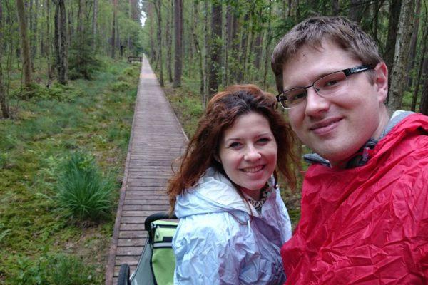 Dopadł nas deszcz, w którym szliśmy tylko 5 km, dobrze, że nie wybraliśmy dłuższej trasy!