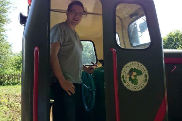 Michał kierował pociągiem :P