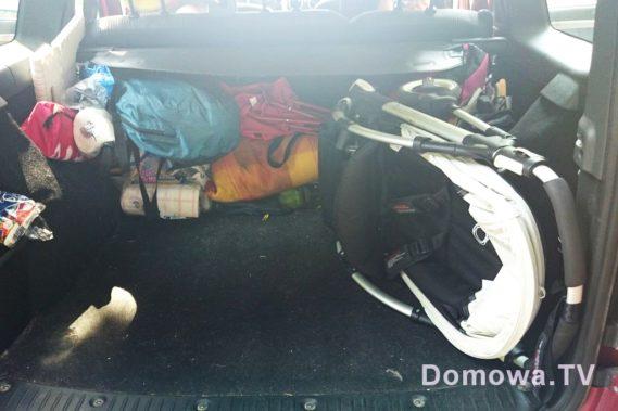 Niewiele miejsca zajmuje w bagażniku