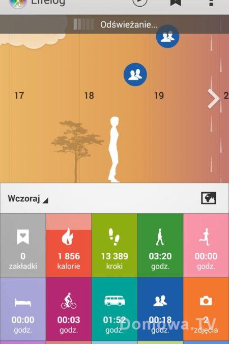 Spacer, zlicza kroki i kalorie