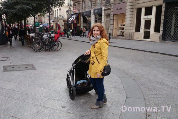 Wózek w wersji pojedynczej dość sporo z nami podróżował, wygodny, mega duży bagażnik. Tu Paryż (o zgrozo potem kupiliśmy yoyo, ale pojemności mu odmówić nie można)
