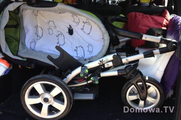 Niechlubny rekord – póki co żaden wózek nie zajął tak dużo miejsca w bagażniku, jak Xlander XA