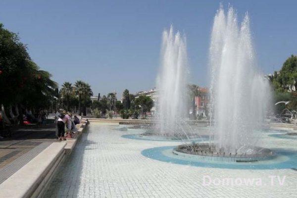 Fontanna w Nicei