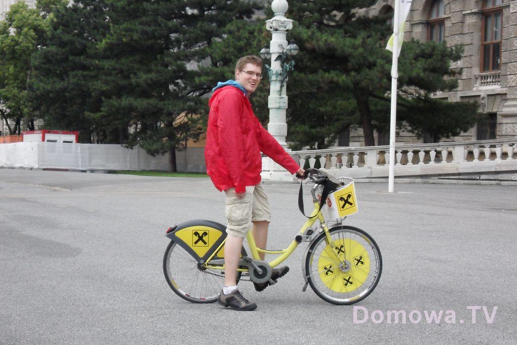 Nawet Michał nie miał problemu z rowerem, a jest wysoki i zazwyczaj rowery dają mu się w kość
