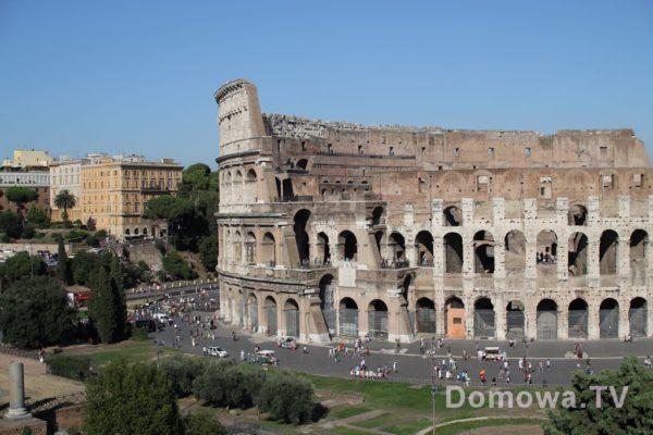 Koloseum w Rzymie z zewnątrz