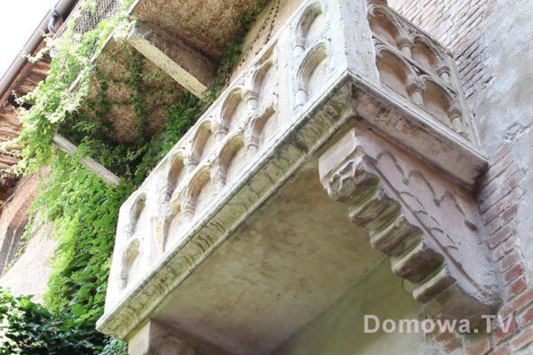 Balkon Julii pod którym wystawał Romeo