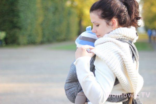9. Neborów, cudowny jesienny spacer i chusta, którą polubiłam baaardzo, Didimos indio z jedwabiem