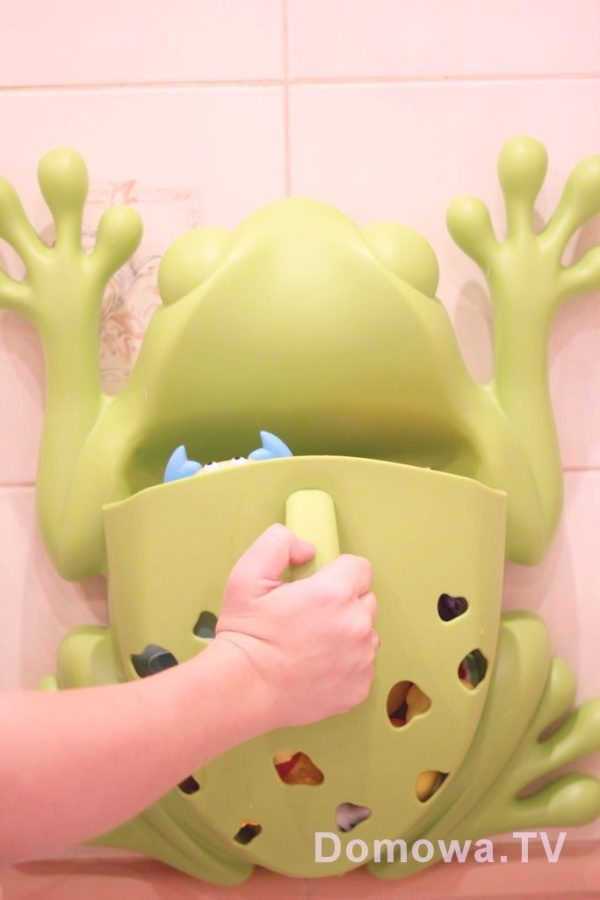 Pojemnik na zabawki żaba