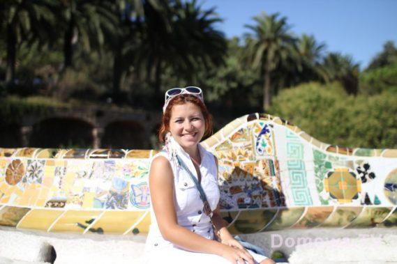 Barcelona śladami Gaudiego :) tutaj park Guel