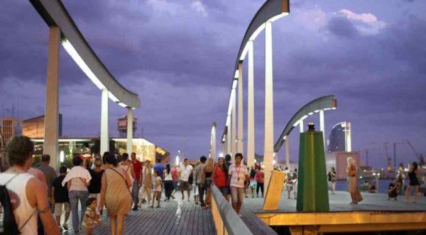 Most zwodzony w Barcelonie
