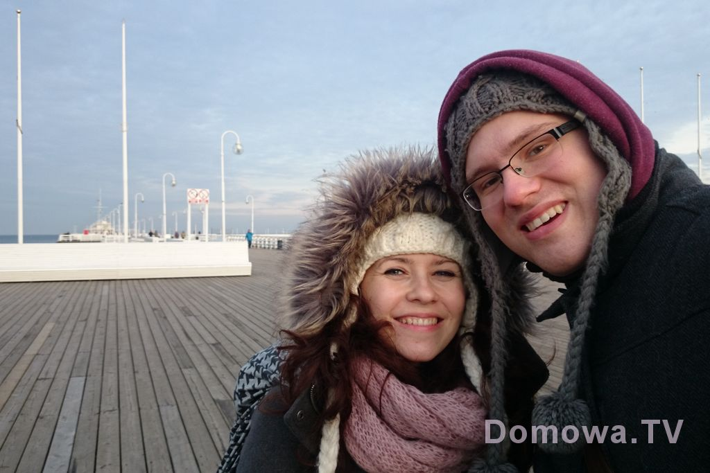 Grudzień w zdjęciach - molo w Sopocie