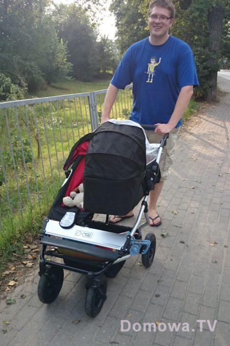 Jeszcze jedno ujęcie na wózek w wersji noworodek+starszak