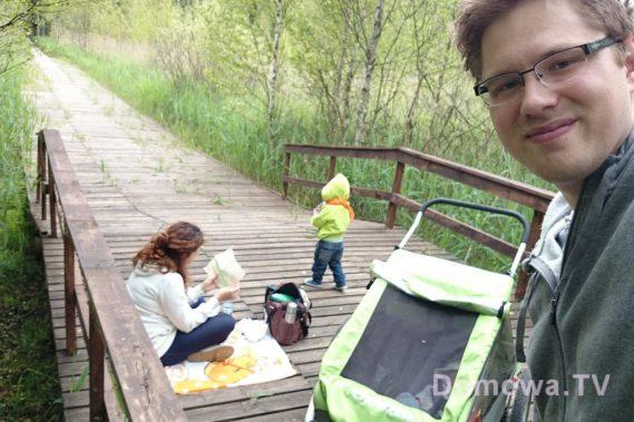 Zdobywamy bagna :) z wózkiem-przyczepką rowerową