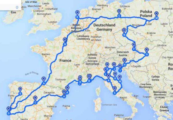 Mapa :) troszkę źle punkty google poprowadził, ale plus minus widać :)