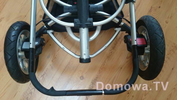 Poproście zdjęcia rury, tutaj wózek, który kupiłam za pierwszym razem, rura porysowana, system składania nie działał prawidłowo