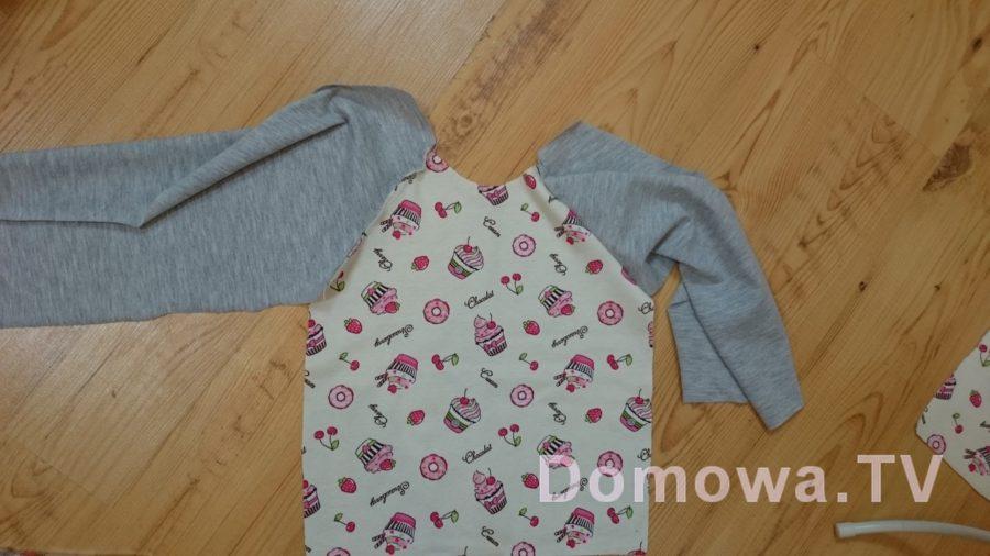 2e655d90f8 Sukienka dresowa dla dziewczynki – prosta do uszycia DIY