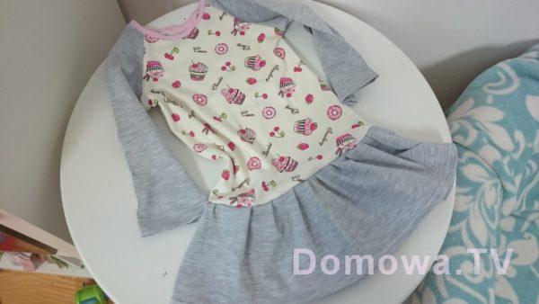 Sukienka dresowa dla dziewczynki – prosta do uszycia DIY