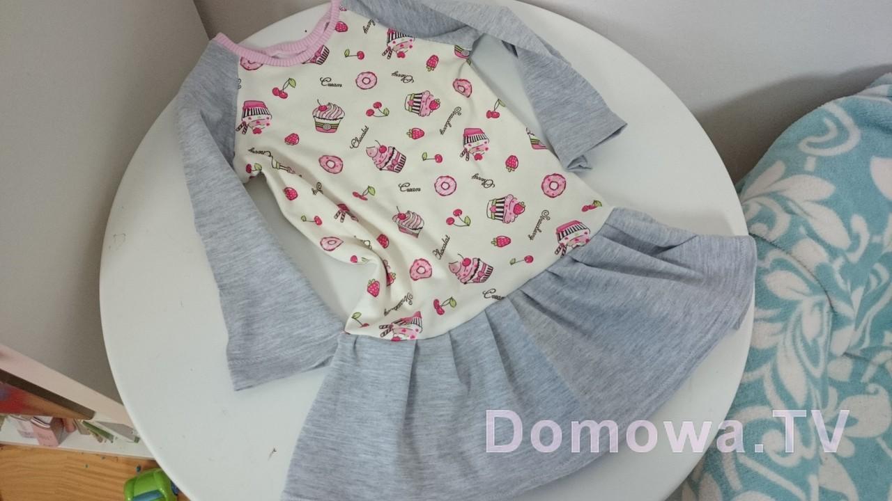 Sukienka dresowa dla dziewczynki