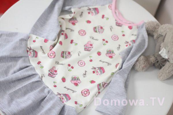 Sukieneczke z dzianiny t-shirtowej interlock i pojedynczej, miękka, fajna do ciałka, świetnie się rozciąga.