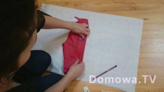 Wykrój na bazie spodenek przygotowanie