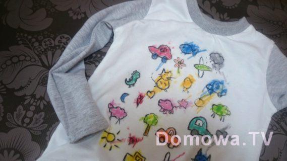 Bluzeczka z kolorowanką