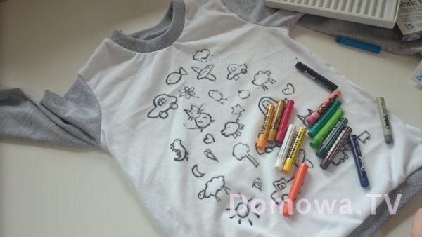 Przygotowanie bluzeczki z kolorowanką
