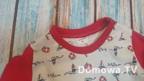 Gotowe bluzeczki na bazie zrobionego wykroju – bluzeczka marynarska