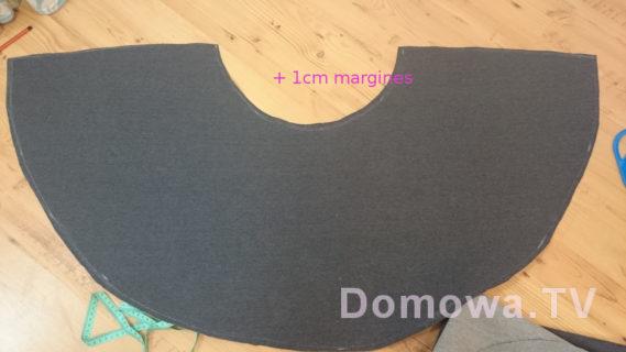 Spódnica z półkoła tutorialal