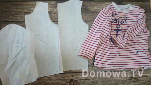 Wykrój na bazie bluzeczki – jak zrobić krok po kroku