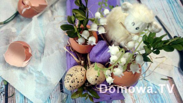 I dekoracja gotowa, najlepiej włozyć tu świeże kwiatki, albo posadzić kiełki lub rzeżuchę