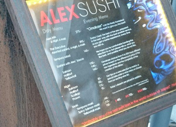 Jako ciekawostka menu wypasionego sushi