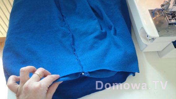 Szycie sukienki dresowej tutorial