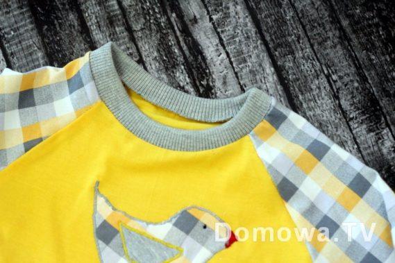 Uszyta bluzeczka z rękawami raglanowymi