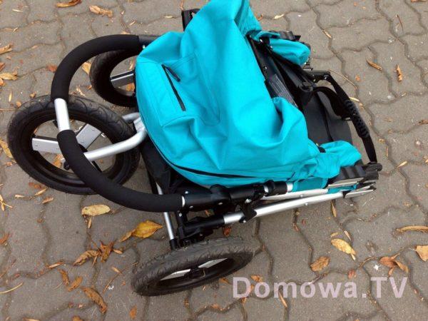 Wózek po złożeniu