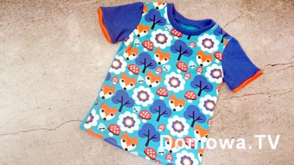 Lubię szyć, tutaj bluzeczka dla starszaka, w lisy :)