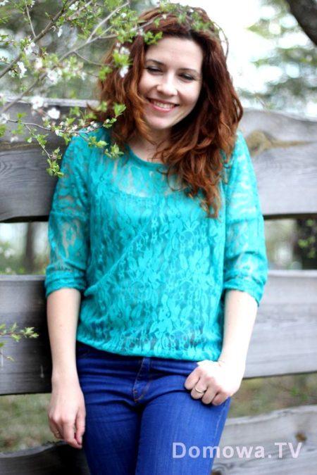 Koronkowa bluzka w całej okazałości no i piekna wiosna na mazurach :)