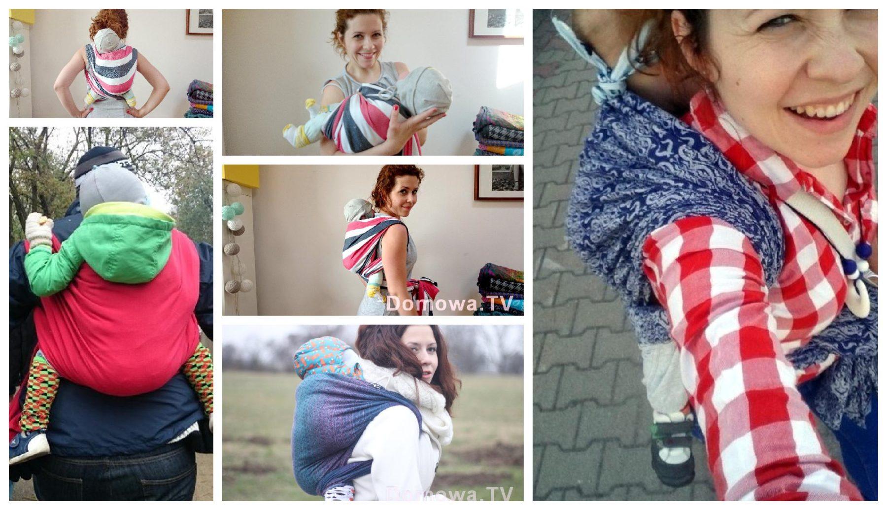 Plecak prosty - wiązanie chusty