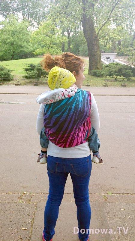 Przepiekna chusta, tutaj ze starszakiem, jedno z nowych zdjęć z ostatniego tygodnia, piekna chusta pellicanobaby zamira