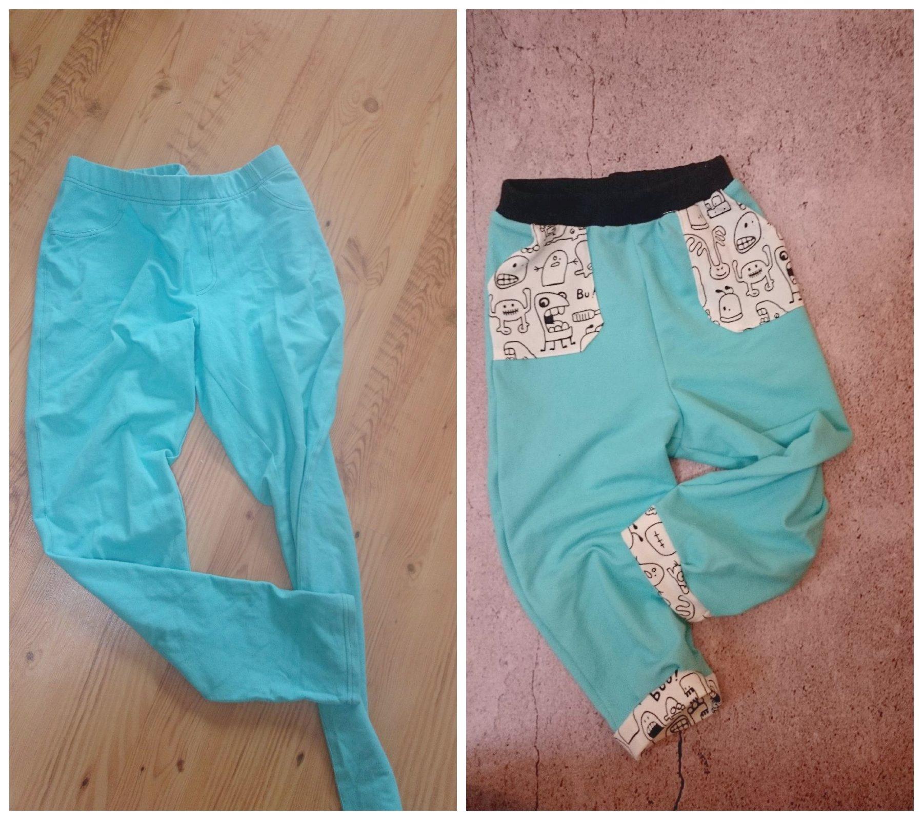 Spodenki ze starych spodni
