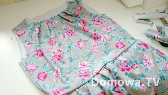 Szycie bluzki z baskinką - tutorial