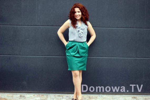 Z zieloną spódnicą