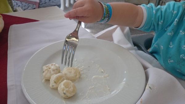 Końcówka obiadu, gniocchi :)