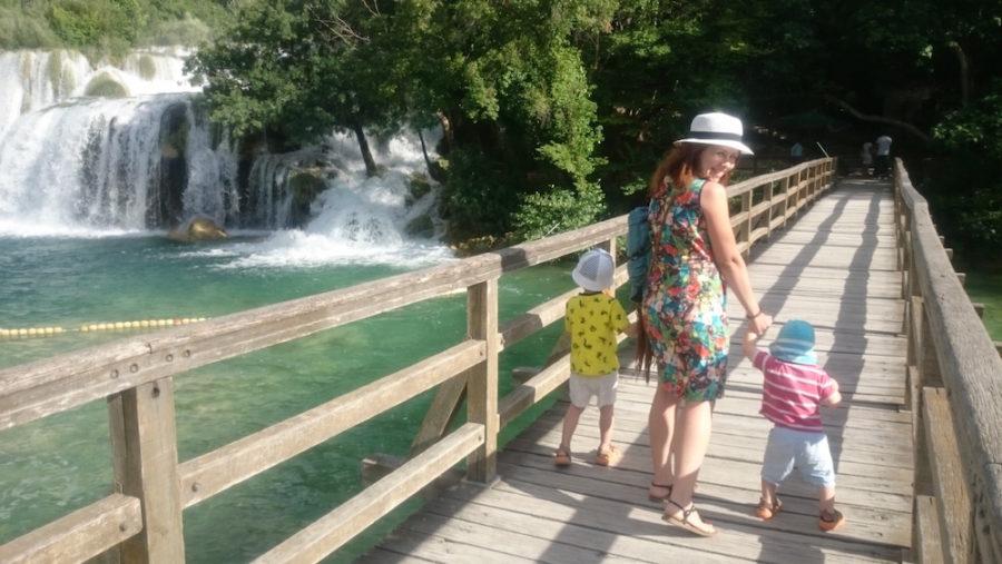 Chorwacja z dziećmi, tu wodospady Krka