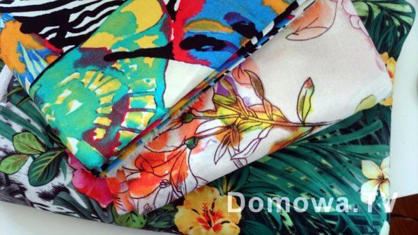 Motyle, kwiaty, palmy