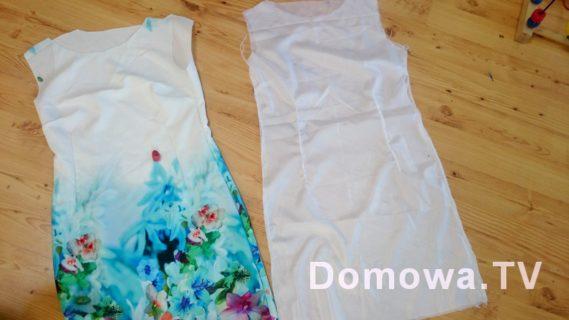 Szycie sukienki z podszewką
