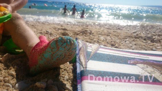 Mało kiedy dzieciaki zakładały plażowe buty