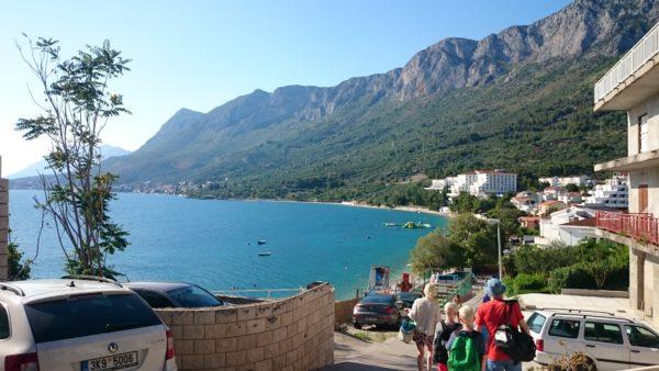 Widok na Gradac bliżej Splitu (nie wiem, jak inaczej określić te części)
