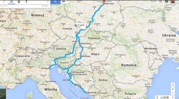 Mapa Euro Trip 2015